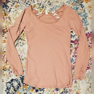 We the Free Free People Lace Back Long Sleeve Tee